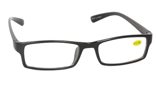 Sort brille i smalt stilrent design - Design nr. b51