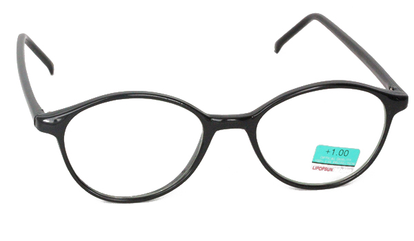 Smart oval brille i sort - Design nr. B58