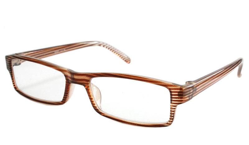 03204e4bc0e1 Flot brille i let stribet lyse brune farver. - Design nr. b101
