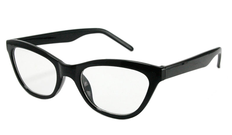 Sort cat-eye brille med styrke. Smart og feminint design.  - Design nr. b114