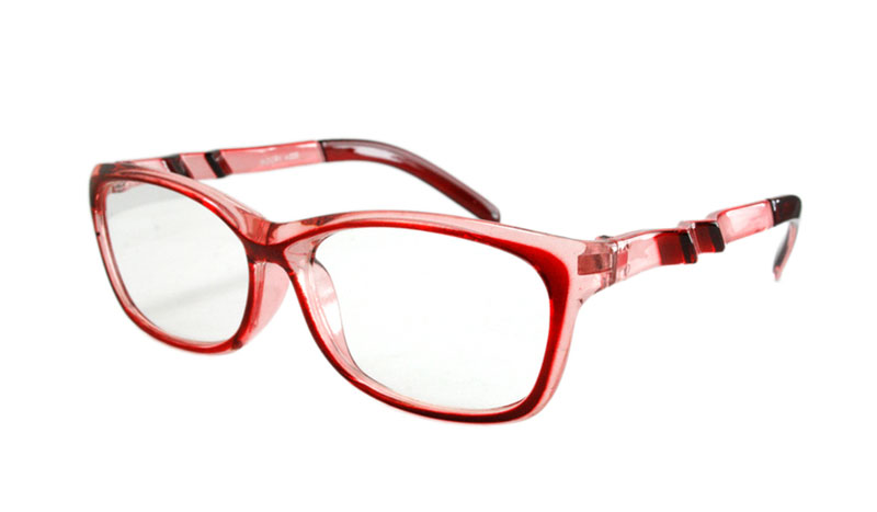 Pink / lyserød-transparent brille m/  - Design nr. b139