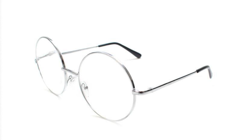 47f61e1eb1a5 Moderigtig brille i rundt sølvfarvet metal stel - Design nr. b154