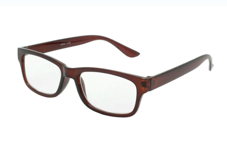 Hverdagsbrille i orange-brunt stel - Design nr. b185