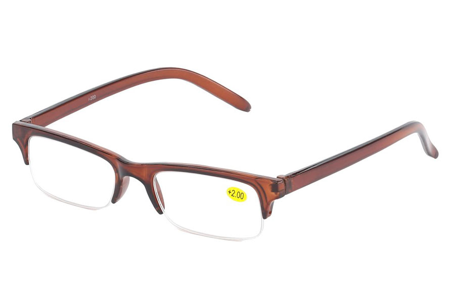Læsebrille i orange-brunt stel - Design nr. b207