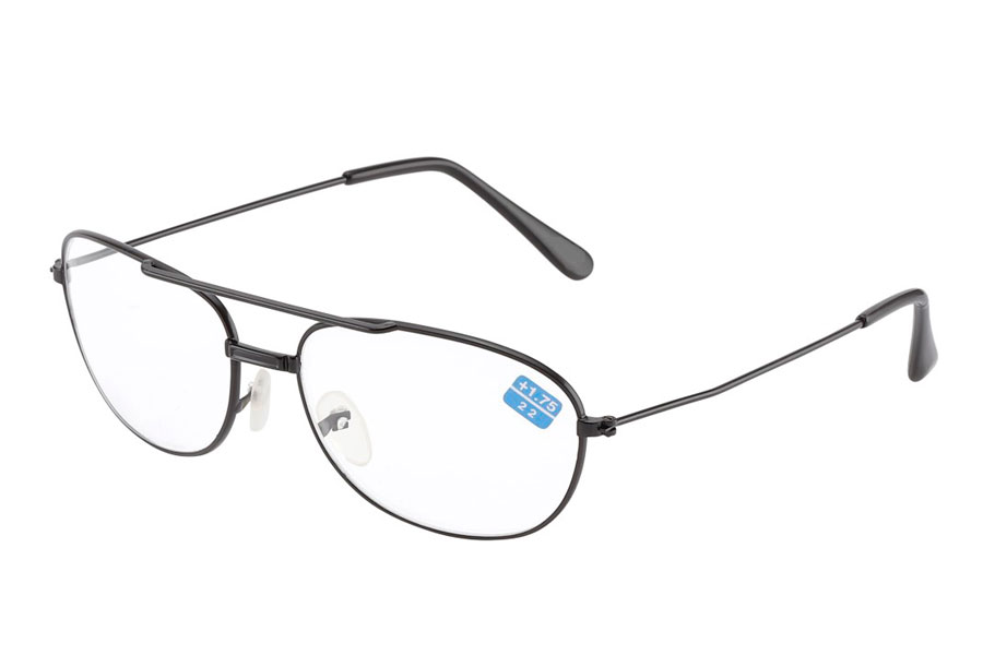 Sort metal brille med læsefelt - Design nr. b233