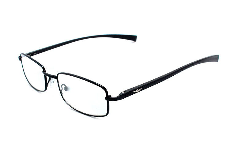 Sort brille med  - Design nr. b253