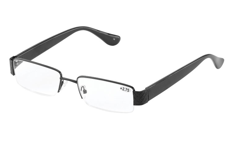 Smart sort herre brille i eksklusivt italiensk design - Design nr. b262