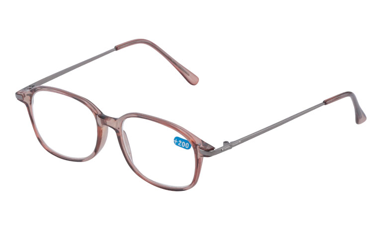 Brille halvtransparent smokey brunt stel - Design nr. b267
