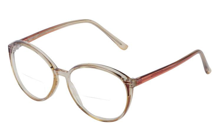 a90bb4b04bcd Retro inspireret feminin brille med læsefelt - Design nr. b273