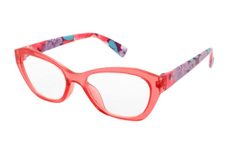 5b8099fc5e1e Skøn lyserød   fersken flower power brille - Design nr. b275