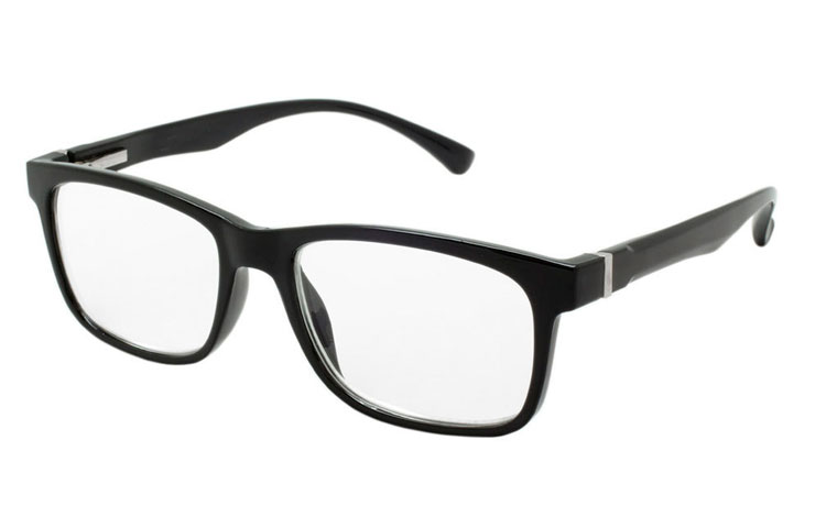 Smart sort brille i enkelt og stilet design.
