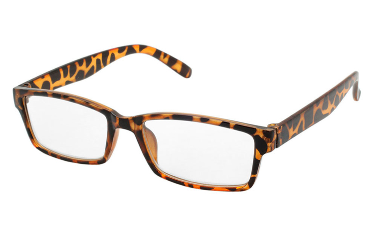 bfe1a2c64ffa Flot og stilet brille i skildpadde leopard spættet stel - Design nr. b339