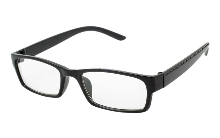 Sort brille i enkelt design