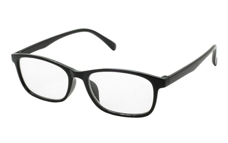 88dd94887169 Sort brille i let design med bløde hjørner. - Design nr. b345