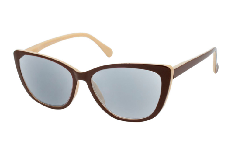 Smart cateye solbrille i retro - vintage look. - Design nr. b349