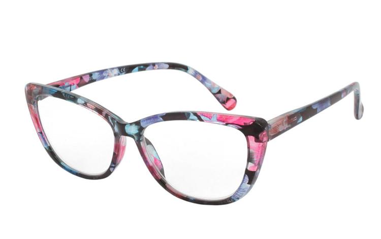 da9b2ef10483 Smuk blomster brille i feminint cateye design - Design nr. b361