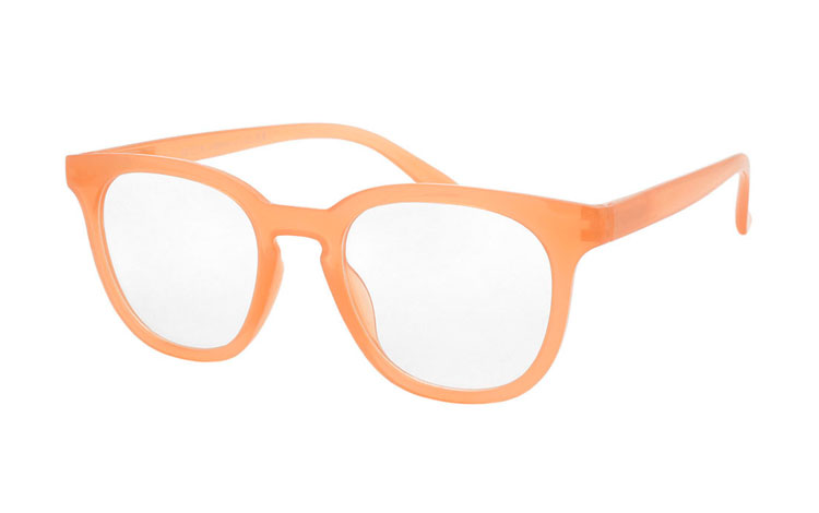 Fræk brille i smokey laks-orange - Design nr. b406