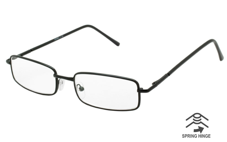Flot enkelt brille i sort metal - Design nr. b421