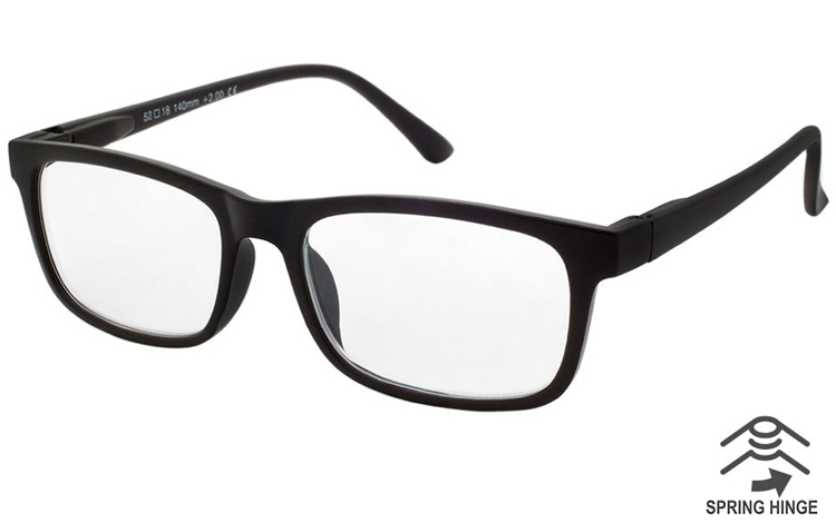 Flot stilet brille i MAT sort stel - Design nr. b422