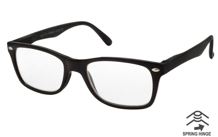 Flot sort stilet brille i let wayfarer design - Design nr. b425