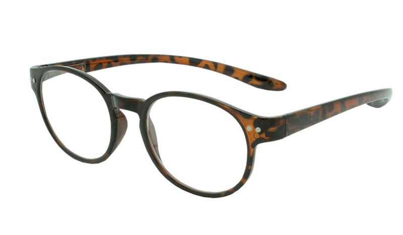 d4f274750636 Smart rund brille i stilet leopard skildpaddebrun farvet design. - Design  nr. b93