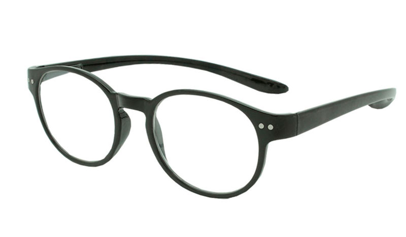 Smart sort rund brille i stilet design. - Design nr. b94