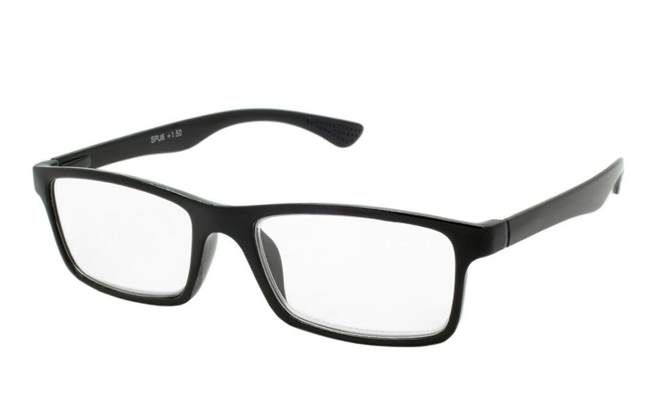 Flot sort stilet og enkelt brille design